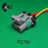 Авто разъём гнездовой 2-х контактный Deiphi 15363990 серии 630 metri-pack для вентилятора радиатора BOSCH с проводом