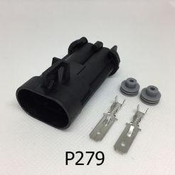 Авто разъём штыревой 2-х контактный Deiphi 15363993 серии 630 metri-pack для вентилятора радиатора BOSCH