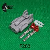 Автомобильный разъём герметичный гнездовой 2-х контактный серии 2,0 мм аналог YAZAKI 7123-1424-40 7123-1424-30 KET MG610320