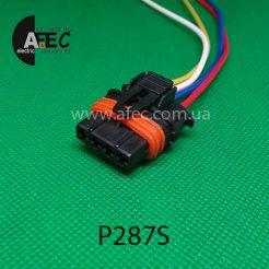 Автомобильный разъём герметичный гнездовой 4-х контактный аналог Bosch 1928404745 серии 2,8мм для датчика кислорода ГАЗель с проводом