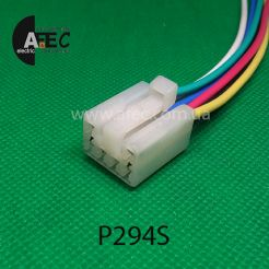 Автомобильный разъём  гнездовой 6-ти контактный аналог KET MG651044 YAZAKI 7123-1360 серии 2,3мм для кнопки стеклоподъемника Lanos Aveo с проводом