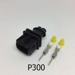 Авто разъём штыревой 2-х контактный WAG 8D0971946 Bosch 1928402448 серии 2,8мм