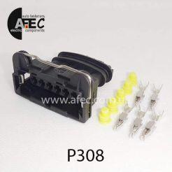 Автомобильный разъём герметичный гнездовой 6-ти контактный аналог AMP TE 282767-2 серии 2,8мм для ДМРВ ГАЗ