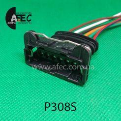 Автомобильный разъём гнездовой 6-ти контактный аналог AMP TE 282767-2 с проводом