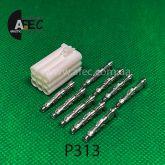 Разъем 9-ти контактный гнездовой аналог AMP 928523-1