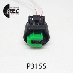 Авто разъем 2-х контактный аналог TE 1-967644-1 с проводом