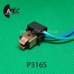 Авто разъем для лампы H1 с двумя проводами для ВАЗ 2110