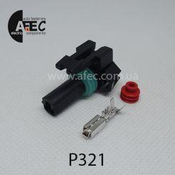 Авто разъём гнездовой 1-но контактный серии 2,8 мм аналог Delphi 12065172