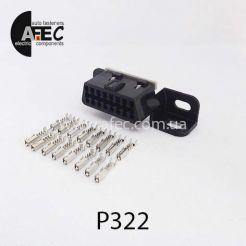 Автомобильный разъём гнездовой 16-ти контактный аналог molex 51116-1601 OBD II