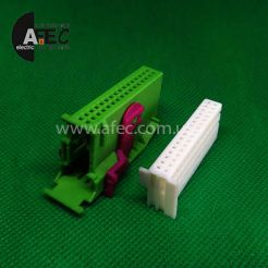 Автомобильный разъём VDO гнездовой 32-х контактный аналог АМР 1-929409-1 для панели приборов ВАЗ 1118 Калина ВАЗ 2170 Приора