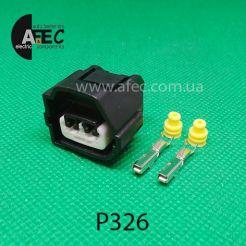 Авто разъем гнездовой 2-х контактный аналог KET MG641637-5 Yazaki 7283-7020-10 Toyota 90980-10899