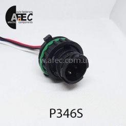 Автомобильный разъем байонетный штыревой 4-х контактный серии 2,5мм аналог TE 1-967402-1 с проводом