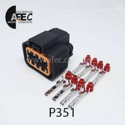 Автомобильный разъём герметичный гнездовой 8-ми контактный аналог KUM PB625-04027