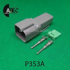 Автомобильный разъём герметичный штыревой 2-х контактный аналог DEUTSCH DT04-2P