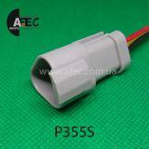 Автомобильный разъём герметичный штыревой 3-х контактный аналог DEUTSH DT06-3P с проводом