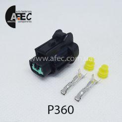 Автомобильный разъём герметичный гнездовой 2-х контактный аналог SUMITOMO 6185-0865 6918-1774 серии 2,2мм