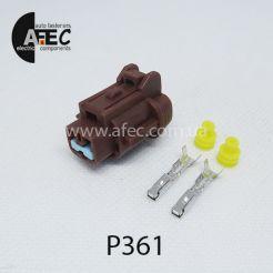Автомобильный разъём герметичный гнездовой 2-х контактный аналог SUMITOMO 6185-0866 6918-17741774 серии 2мм для датчика ABS Mitsubishi