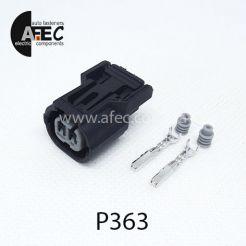 Автомобильный разъём герметичный гнездовой 2-х контактный аналог SUMITOMO 6189-0890 6918-1835 серии 1,2мм
