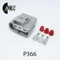 P366 Автомобильный разъём герметичный гнездовой 3-х контактный аналог SUMITOMO 6189-0165 серии 4,8мм для вентилятора радиатора TOYOTA COROLLA CAMRY