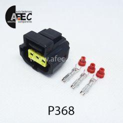 Автомобильный разъём герметичный гнездовой 3-х контактный аналог АМР 184032-1 серии 2мм для генератора Ford