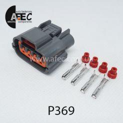 P369 Автомобильный разъём герметичный гнездовой 4-х контактный аналог SUMITOMO 6098-0144 серии 2,2мм для генератора Nissan Mitsubishi I30 I35