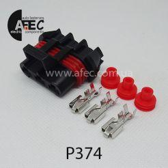 Разъём гнездовой 3-х контактный аналог Delphi 12124685