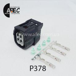 Автомобильный разъём герметичный гнездовой 4-х контактный аналог SUMITOMO 6189-7039 для датчика кислорода Honda Akura