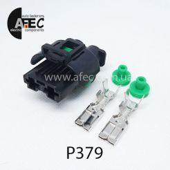 Автомобильный разъём герметичный гнездовой 2-х контактный аналог АМР 1544317-1 серии 7,8 для вентилятора радиатора Nissan Qashqai