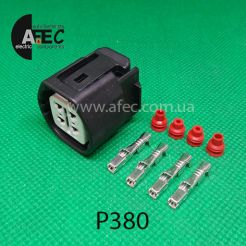 P380 Автомобильный разъём герметичный гнездовой 4-х контактный аналог SUMITOMO 6189-0694 TOYOTA 90980-11964 для генератора HONDA ACURA TOYOTA