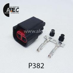 Автомобильный разъём герметичный гнездовой 2-х контактный аналог E-3979 WPT-905 8U2Z-14S411-EA серии 2,2мм
