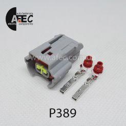 Авто разъем генздовой 2х контактный аналог KUM PU465-02127 для повторителя поворотов KIA K2 K3 K5 HYUNDAI ELANTRA CERATO TUCSON