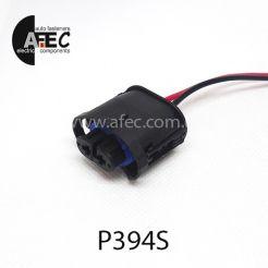 Авто разъем гнездовой 2-х контактный аналог АМР 1-1355668-2 для ламп H11 с проводом