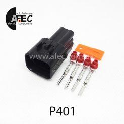 Авто разъём герметичный штыревой 4-х контактный аналог KUM PB621-04020