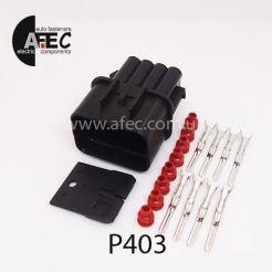 Авто разъём герметичный штыревой 8-ми контактный аналог KUM PB621-08020