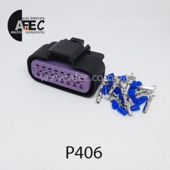 Авто разъём герметичный гнездовой 16-ти контактный аналог Delphi 15326863