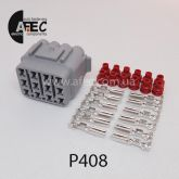 Авто разъём герметичный гнездовой 12-ти контактный аналог Sumitomo 6181-2459