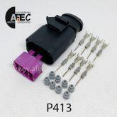 Автомобильный разъём герметичный штыревой 8-ми контактный серии 1,5мм аналог WAG 1J0 973 814 AMP 1-966693