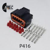 Автомобильный разъём герметичный гнездовой 12-ти контактный серии 2,2мм аналог KUMPB625-12027
