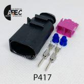 Автомобильный разъём герметичный штыревой 2-х контактный серии 3,5мм аналог VAG 8D0 973 822 42064500 42064000 TE 1-1703543-0