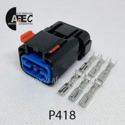 Автомобильный разъём герметичный гнездовой 6-ти контактный серии 2,8мм аналог FCI 54200608
