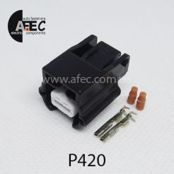Автомобильный разъём герметичный гнездовой 2-х контактный серии 0,6 мм аналог YAZAKI 7283-8851-30