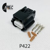 Автомобильный разъём герметичный гнездовой 3-х контактный серии 0,6 мм аналог YAZAKI 7283-8852-30