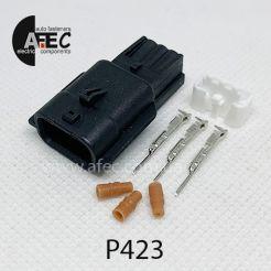 Автомобильный разъём герметичный штыревой 3-х контактный серии 0,6 мм аналог YAZAKI7282-8852-30