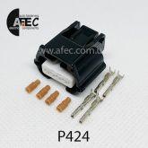 Автомобильный разъём герметичный гнездовой 4-х контактный серии 0,6 мм аналог YAZAKI 7283-8853-30