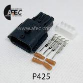 Автомобильный разъём герметичный штыревой 4-х контактный серии 0,6 мм аналог YAZAKI 7282-8853-30