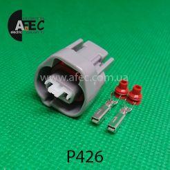 Автомобильный разъём герметичный гнездовой 2-х контактный серии 2,0 мм аналог SUMITOMO 6189-003 TOYOTA 90980-11156