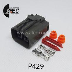 Автомобильный разъём герметичный гнездовой 2-х контактный серии 6,3 мм аналог YAZAKI 7223-6224-40