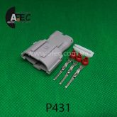 Автомобильный разъём герметичный штыревой 3-х контактный серии 2,0 мм аналог YAZAKI  7222-7434-30 KET MG640329-5