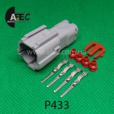 Автомобильный разъём герметичный штыревой 4-х контактный серии 2,0 мм аналог YAZAKI 7222-7444-40
