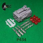 Автомобильный разъём герметичный гнездовой 6-ти контактный серии 2,0 мм аналог YAZAKI 7123-7464-40